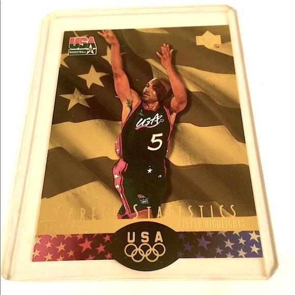 Grant Hill Gold Basketball Card #52 USA 1996